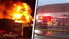 Large Fire Destroys Businesses on Historic Denton Square
