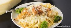 parmesan crusted chicken alfredo from centercutcook. Walnut Chicken Recipe, Easy Chicken Recipes, Turkey Recipes, Dinner Recipes, Pasta Dishes, Food Dishes, Main Dishes, Italian Dishes, Italian Recipes