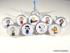 Peanuts Gang Charlie Brown Snoopy Hershey by PrettyPaperCottage
