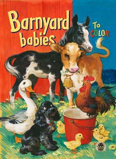 I always wanted farm coloring books as a child! ♥