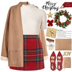 2463. Perfect Christmas by chocolatepumma on Polyvore featuring Rachel Comey, New Look, Whistles, Chloé, Improvements, H&M, Kate Spade and Eliot Raffà t