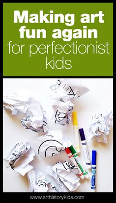 Tips and strategies to help perfectionist kids to enjoy art again.
