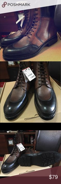 Brand new with box Zara two tone leather boots Brand new with box Zara two tone leather boots US size 6 Zara Shoes Boots
