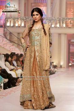 #uzma baber #pakistani designer on pentene #bridal coutour week #2015june pinned by #sidra younas