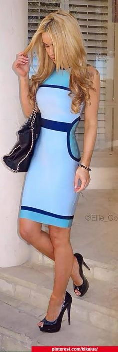 This is Soooo cute!Fashion - Baby blue dress