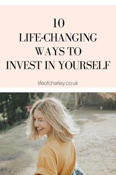 Check out these top 10 ways to invest in yourself as a woman. Plan for your future by making smart decisions for yourself now! Your Best Life Now, Life Is Good, Improve Yourself, Finding Yourself, Soul Searching, Women Life, Growth Mindset, Self Improvement, Personal Development