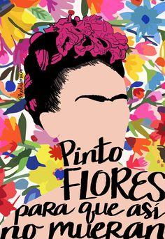 Frida y sus flores Diego Rivera, Salvador Dali, Fridah Kahlo, Frida Kahlo Portraits, Kahlo Paintings, Frida Art, Ink Illustrations, Mexican Art, Gravure