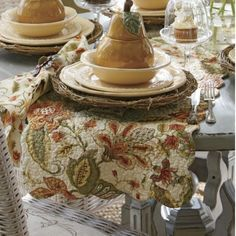 Table Runner, Amelia Reversible from Through the Country Door®...I love these colors
