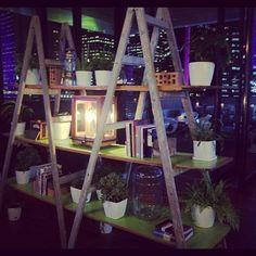 Super cool DIY bookshelves.
