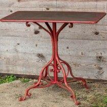 Metal Pedestal Table | Rustic Metal Table