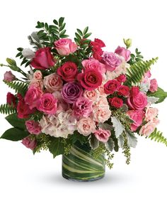 Fast Flowers, Love Flowers, Summer Flowers, Month Flowers, Silk Flowers, Hot Pink Roses, Lavender Roses, Light Pink Bouquet, Bouquet Flowers