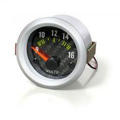 "[pro.tec] VOLTMETRO/STRUMENTO COMPLEMENTARE 52mm 2"" CARBONIO 22,70 € Smart Watch, Smartwatch"