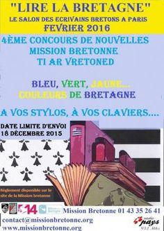 Le salon des écrivains bretons à Paris aura lieu le samedi 6 février 2016 de 10 à 18 h, à la salle des fêtes de la mairie du XIVe arrondissement parisien.