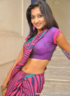 Akshaya Hot Saree Stills
