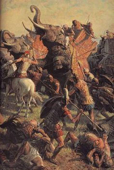 #AlexanderTheGreat 's #infantry and #cavalry overwhelm the #Indian #army of king #porus at the #Jhelum #river
