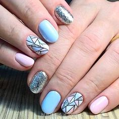 Easy And Beautiful Vacation Nail Designs / Dreamy And Professionail American Acrylic Nail Art Design Diy Nails, Manicure, Ice Cream Design, Vacation Nails, Acrylic Nail Art, Perfect Nails, Nail Art Designs, Nailart, American