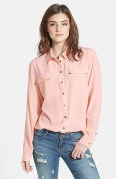 Two by Vince Camuto Silk Utility Blouse (Regular & Petite) available at #Nordstrom