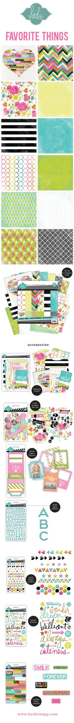 BlogSneakPeeks_FavoriteThings by Heidi Swapp- Beautiful collection. Love the glitter frames in this collection.
