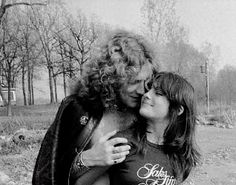 Robert Plant and Audrey Hamilton || 1977 Tumblr