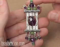 The Beading Gem's Journal: Clever Basket Weave Wire Tutorial Uses Loom Weavin...