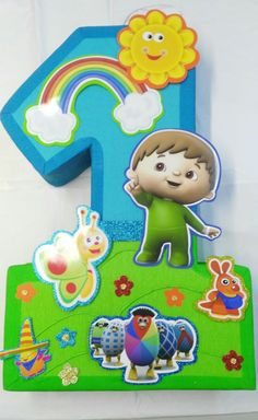 Baby tv 1 pinata. Cumpleaños de baby tv Decoracion por aldimyshop