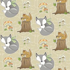Forest Friends fabric by pattysloniger on Spoonflower - Nope. It couldn't be any cuter.