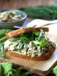 seitan chickpea 'chicken' salad