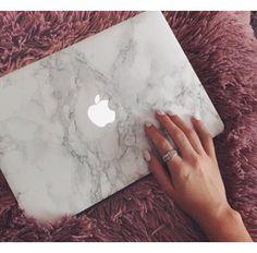 Marble cover voor macbook air 13 van LaFav op Etsy