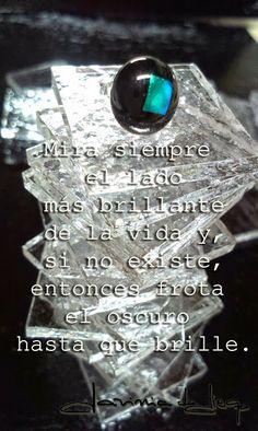 Google+ #frases #reflexiones #vidrio #plata #pendientes  www.daviniadediego.com