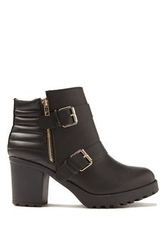 McGee Buckle Boot, BLACK