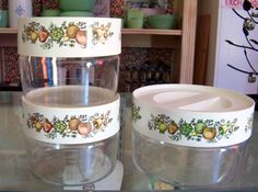 Three Vintage Pyrex Store N See 1970s Spice of by tithriftstore