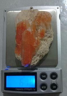 100% Natural Gem Grade A+++ Orange Calcite on Matrix, 61.8 grams / 309 Carats