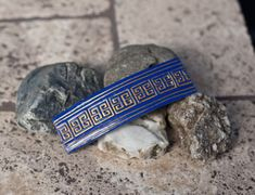 Blue and Gold Mayan Pattern French Barette Aztec Shorts, Gold Paint, Cobalt Blue, Polymer Clay, Hair Accessories, French, Pattern, Etsy, Ideas