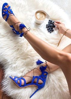 Blue Cutout Suede Booties Chic Streetstyle
