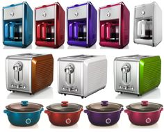 An overview of the BELLA Dots Collection and other colorful small appliances that can energize kitchens. Retro Kitchen Appliances, Best Appliances, Small Appliances, Kitchen Items, Kitchen Gadgets, Kitchen Products, Kitchen Stuff, Kitchen Colour Schemes, Kitchen Colors