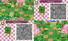 Animal Crossing: New Leaf & HHD QR Code Paths , pollocrossing: spring versions of my mush paths....