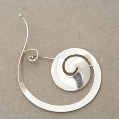 Gallery 925 - Georg Jensen brooch no. 392 by Vivianna Torun, Handmade Sterling Silver
