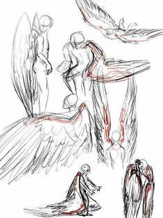 Wings; How to Draw Manga/Anime #Drawingtips