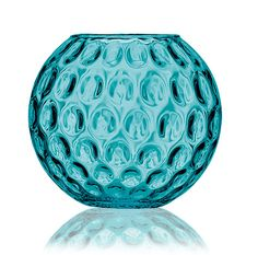 Coloured glass: Odile turquoise vase....love it.