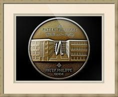 """Patek Philippe Geneve Commemorative Medal Coin // Paper: enhanced matte; Glazing: acrylic; Moulding: light brown, clear pine; Top Mat: white/cream, chantilly; Middle Mat: tan, tumbleweed; Bottom Mat: white/cream, raphael cloud // Price starts at $127 (Petite: 19.5"""" x 21.5""""). // Customize at http://www.imagekind.com/Patek-Philippe-Geneve-PPG_art?IMID=5cad76ca-2632-4430-9e1b-71f73e27c714"""