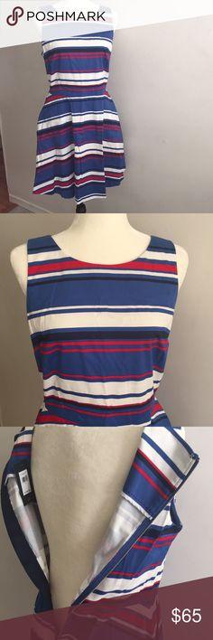 Red White & Blue Tommy Hilfiger fit & flare Dress Red White & Blue Tommy Hilfiger fit & flare Dress Tommy Hilfiger Dresses