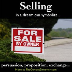 Dream dictionary meaning for the dream symbol: sell. Dictionary Meaning, Dream Dictionary, Dream Interpretation Symbols, What Your Dreams Mean, Dream Symbols, Weird Dreams, Sweet Dreams, Dream Meanings, Im A Dreamer