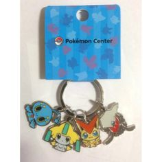 Pokemon Center 2014 Victini Darkrai Manaphy Jirachi Pokedoll Metal Keychain
