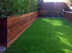 Backyard idea with artificial grass for your home in Sausalito, California.
