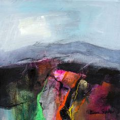 Light on a Pink Field by Patricia Sadler Abstract Landscape Painting, Seascape Paintings, Cool Paintings, Artist Painting, Artist Art, Landscape Art, Landscape Paintings, Abstract Art, Painting Inspiration