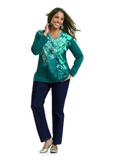 bd54dc6e5dcdd JMS Jeans and JMS Long Sleeve Graphic V-Neck Teesmall Model Magazine