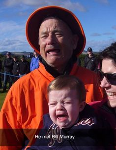 Funny pictures about He met Bill Murray. Oh, and cool pics about He met Bill Murray. Also, He met Bill Murray. Bill Murray, Tom Hanks, Funny Kids, The Funny, Funny Man, Reasons Kids Cry, Crying Kids, Toms, Can't Stop Laughing