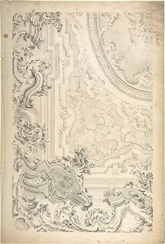 Design for a Ceiling with Cove Showing Anonymous, Italian, Piedmontese, 18th century