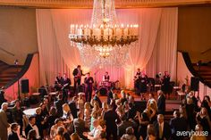 Photos of Stephanie and Brian's Intercontinental Chicago wedding. Wedding lighting and drape by MDM Entertainment. Photos by Averyhouse. Chicago Wedding Venues, Unique Wedding Venues, Dance Floor Wedding, Wedding Day, Chicago Hotels, Ceiling Lights, Bride, Lighting, Pi Day Wedding