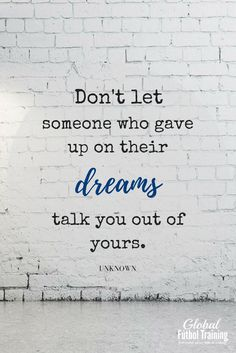 """Don't let someone who gave up on their dreams talk you out of yours. Gymnastics Quotes, Volleyball Quotes, Basketball Quotes, Volleyball Drills, Volleyball Gifts, Girls Basketball, Girls Softball, Teamwork Quotes, Leader Quotes"